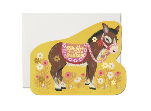 """ Pin the Tail Donkey "" Card"