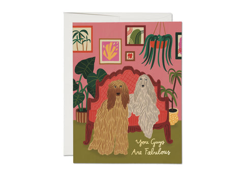 """ Afghan Dogs "" Card"