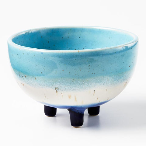 Frank Footed Planter Blue