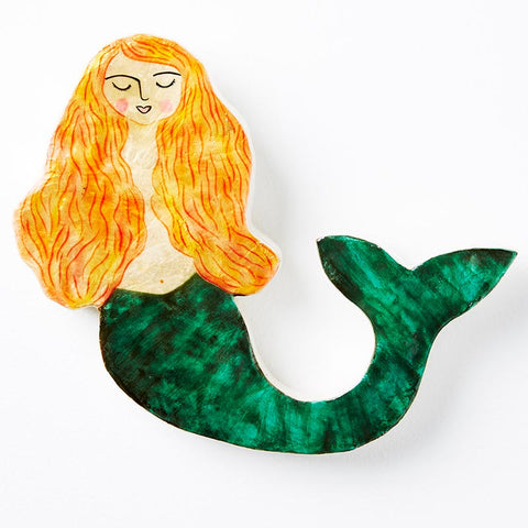 Green Mermaid Wall Art