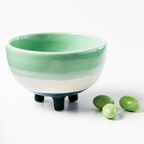 Frank Footed Planter Green