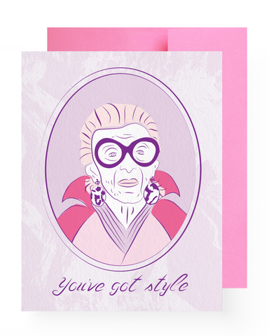 Iris Apfel Compliment Card