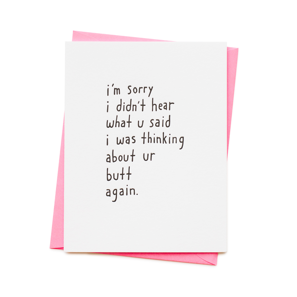 'Butt Again' Card