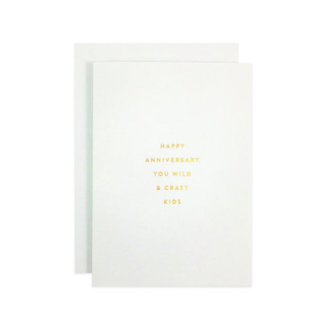 """ Anniversary Crazy Kid "" Petite Card"