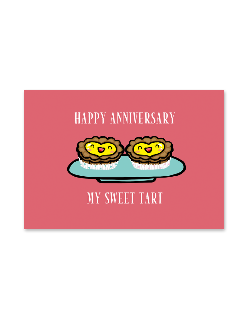""" Happy Anniversary Sweet Tart  "" Card"