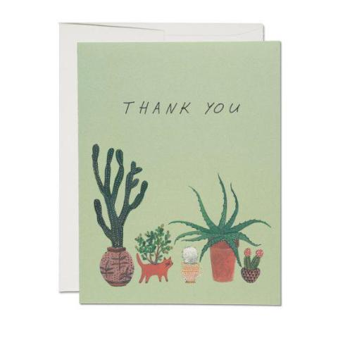 """  Cactus Thank You "" Card Greeting Cards - Thorn and Burrow"