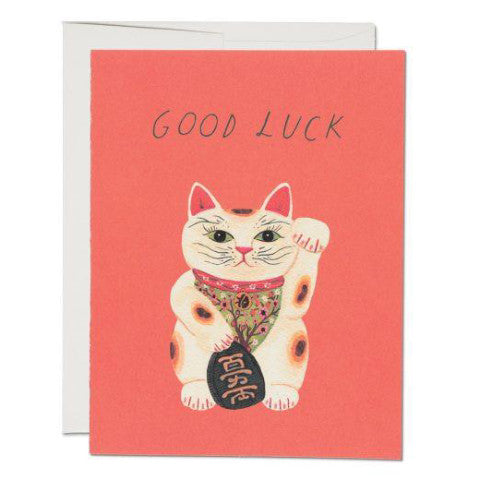 """ Good Luck Kitty "" Card Greeting Cards - Thorn and Burrow"