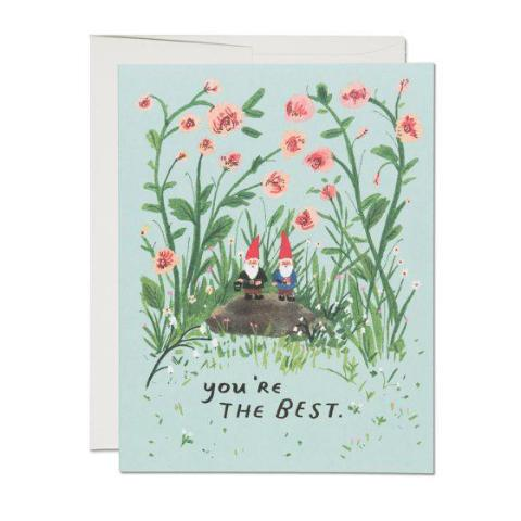 """  Garden Gnomes "" Card Greeting Cards - Thorn and Burrow"