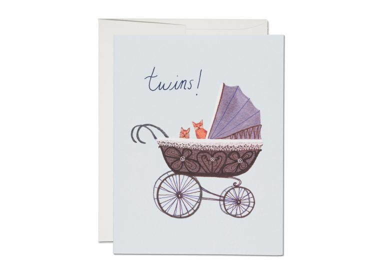 """ Twin Kitties "" Card Greeting Cards - Thorn and Burrow"
