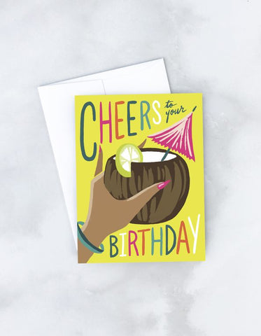 """ Birthday Cocktail "" Card Greeting Cards - Thorn and Burrow"