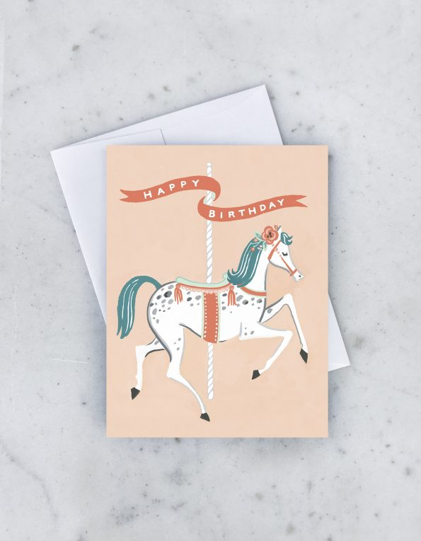 """ Carousel "" Card Greeting Cards - Thorn and Burrow"