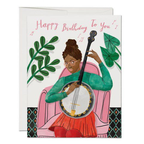 """Banjo Birthday"" Card Greeting Cards - Thorn and Burrow"