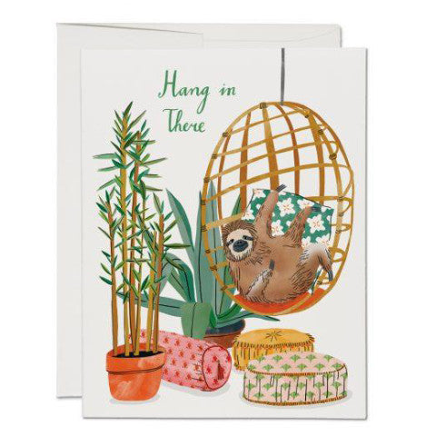 """Chair Sloth Encouragement"" Card Greeting Cards - Thorn and Burrow"
