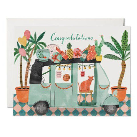 """Party Tuktuk Congrats"" Card"