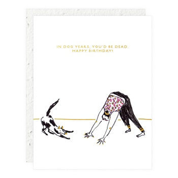 """ Downward Dog "" Greeting Card"