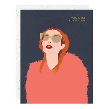 """ Glasses & Fur "" Greeting Card"