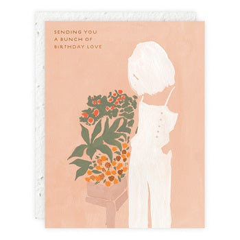 """ Girls & Flowers  "" Greeting Card"