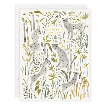 """ Grey Cheetahs "" Greeting Card"