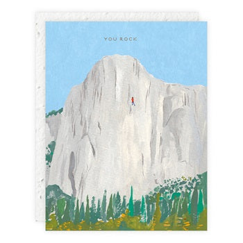 """ Free Solo "" Greeting Card"
