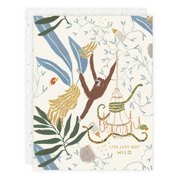 """ Jungle "" Greeting Card"