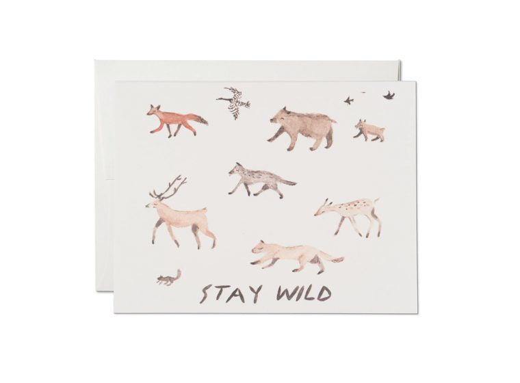 """ Stay Wild "" Card Greeting Cards - Thorn and Burrow"