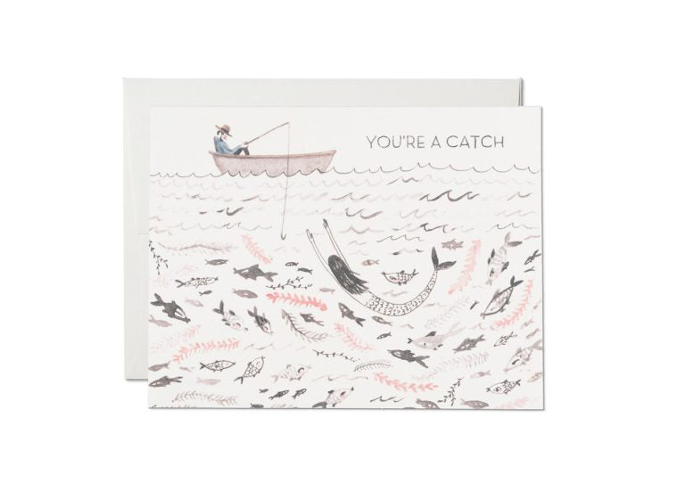 """ You're a Catch "" Card Greeting Cards - Thorn and Burrow"
