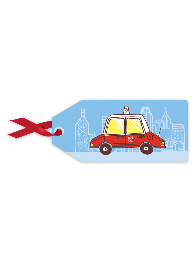 Blue Taxi Gift Tag