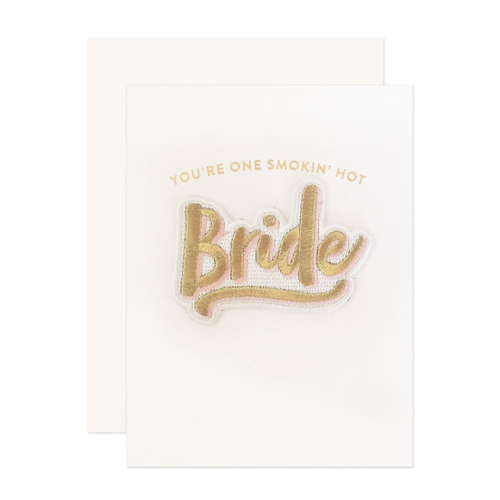 """Bride"" Greeting Card Patch"