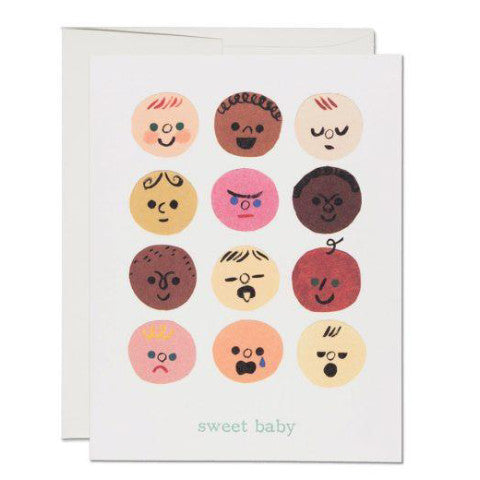 """  Baby Faces "" Card"
