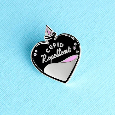 Cupid Repellent Enamel Pin