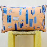 Hong Kong Orange Rectangular Cushion Cover