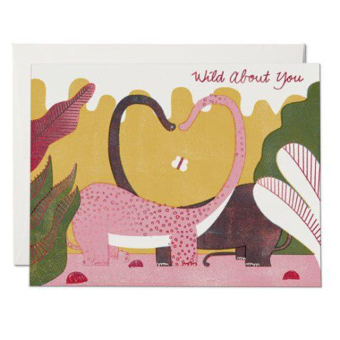 """Dino Love"" Card Greeting Cards - Thorn and Burrow"