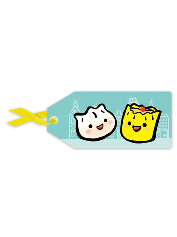 Cute Kids Dumplings Gift Tag
