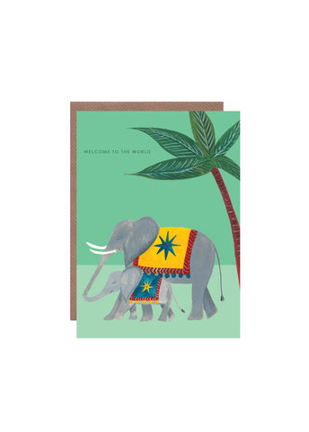 """ Elephant New Baby "" Card"