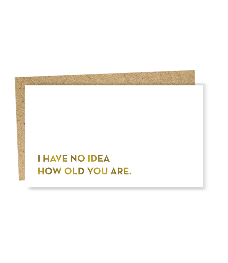 """ No Idea "" Mini Card"