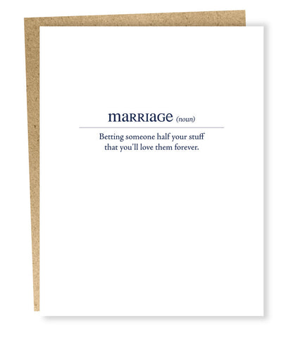 """ Marriage Definition "" Card"