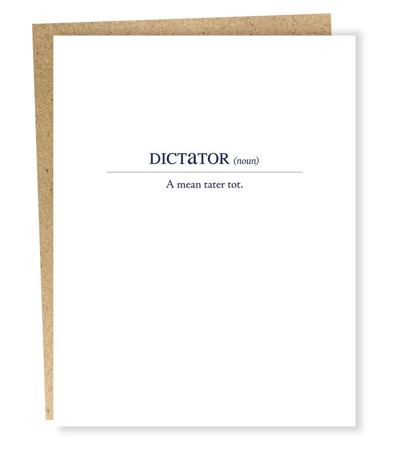 """ Dictator Definition "" Card"