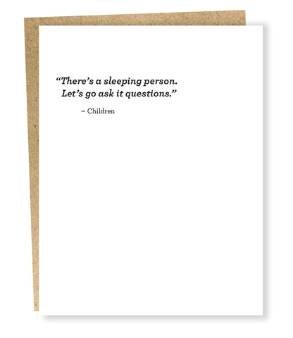 """ Sleeping Person "" Card"