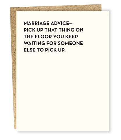 """ Marriage Advice "" Card"
