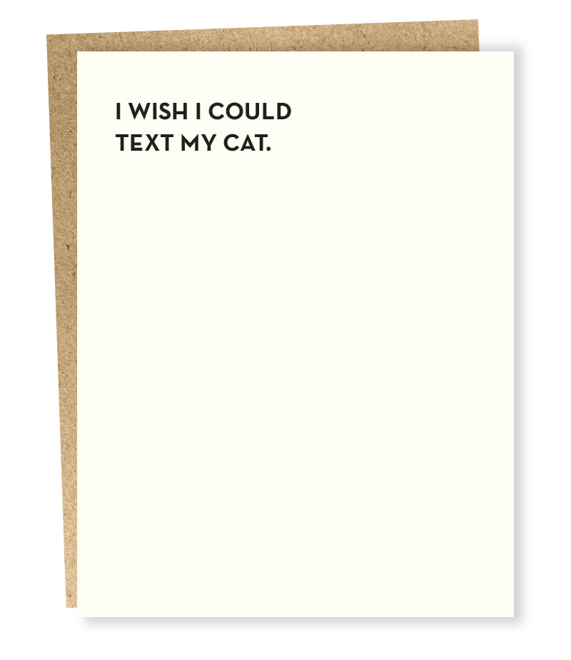 """ Cat Text "" Card"