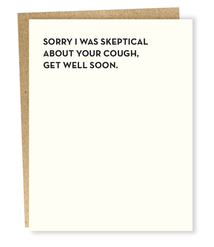 """ Skeptical "" Card"