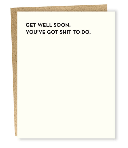 """ Get Well Soon "" Card"