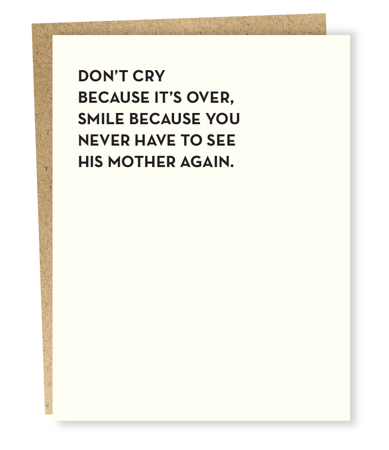 """ Don't Cry "" Card"