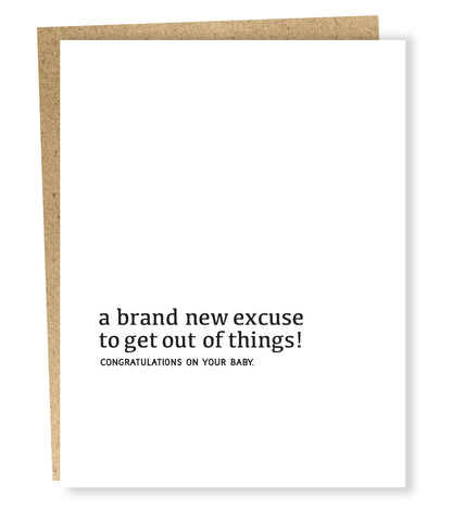 """ New Excuse "" Card"