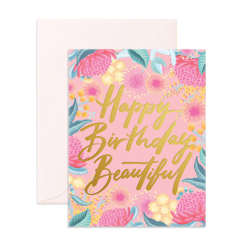 """ Birthday Beautiful "" Card Greeting Cards - Thorn and Burrow"