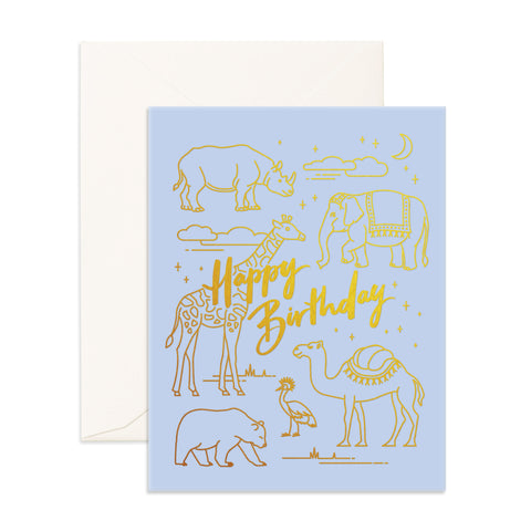 """ Birthday Animals "" Card Greeting Cards - Thorn and Burrow"