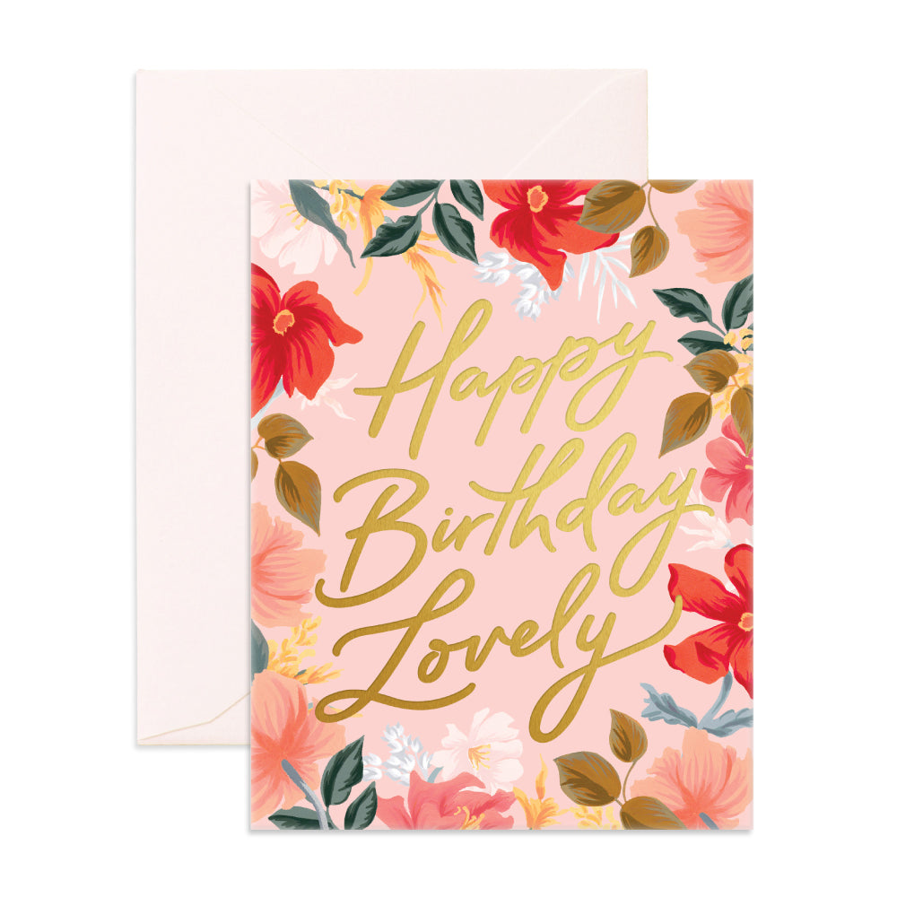 """ Happy Birthday Lovely "" Card Greeting Cards - Thorn and Burrow"