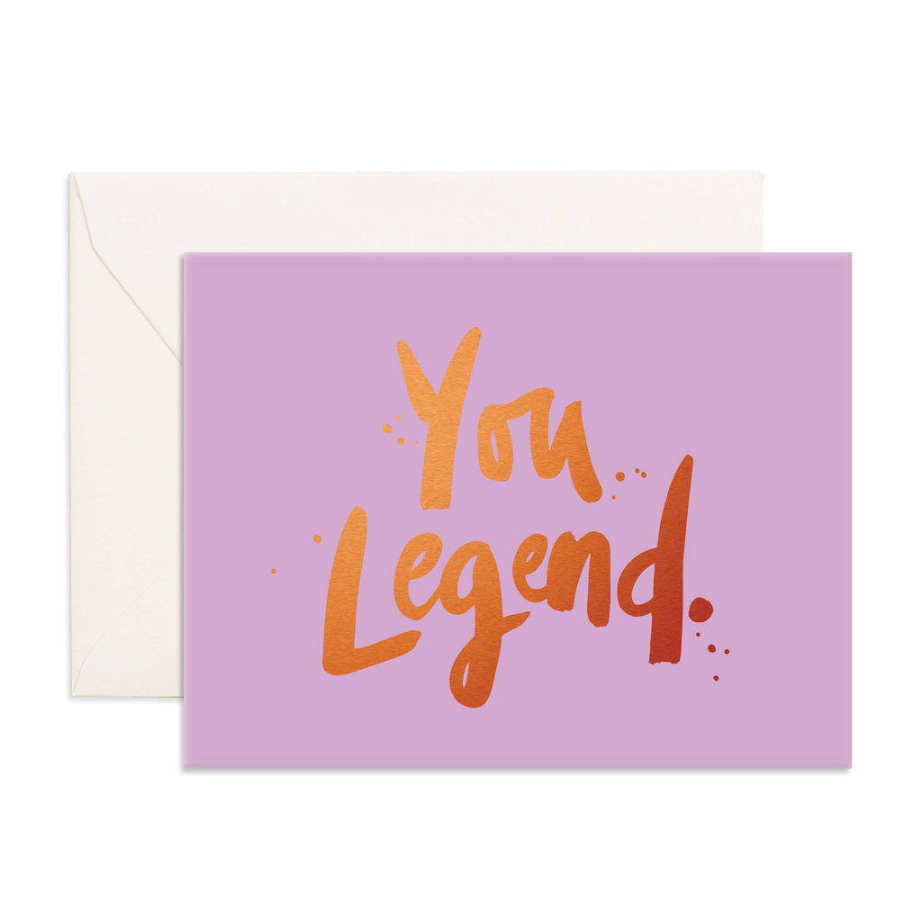 """ You Legend "" Card Greeting Cards - Thorn and Burrow"