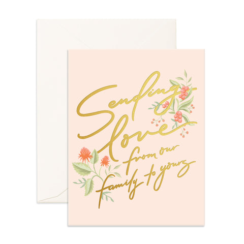""" Sending Love "" Card Greeting Cards - Thorn and Burrow"