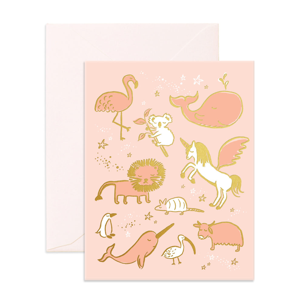 """ Magical Baby Animals "" Card Greeting Cards - Thorn and Burrow"